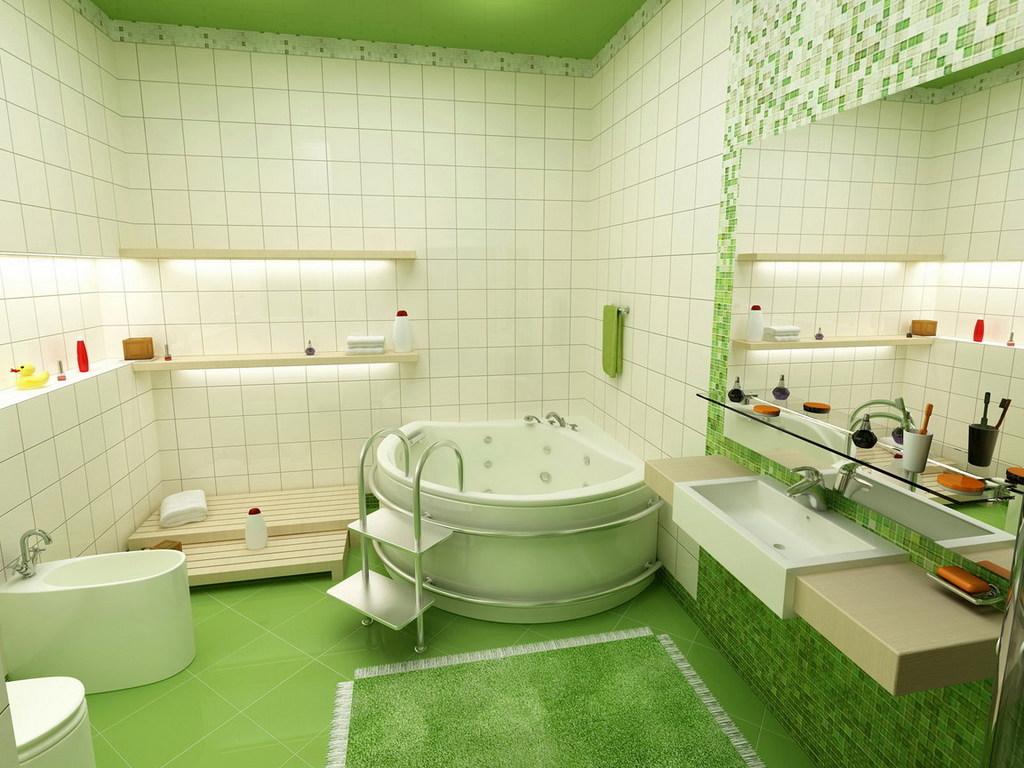 Ванная комната обои для рабочего