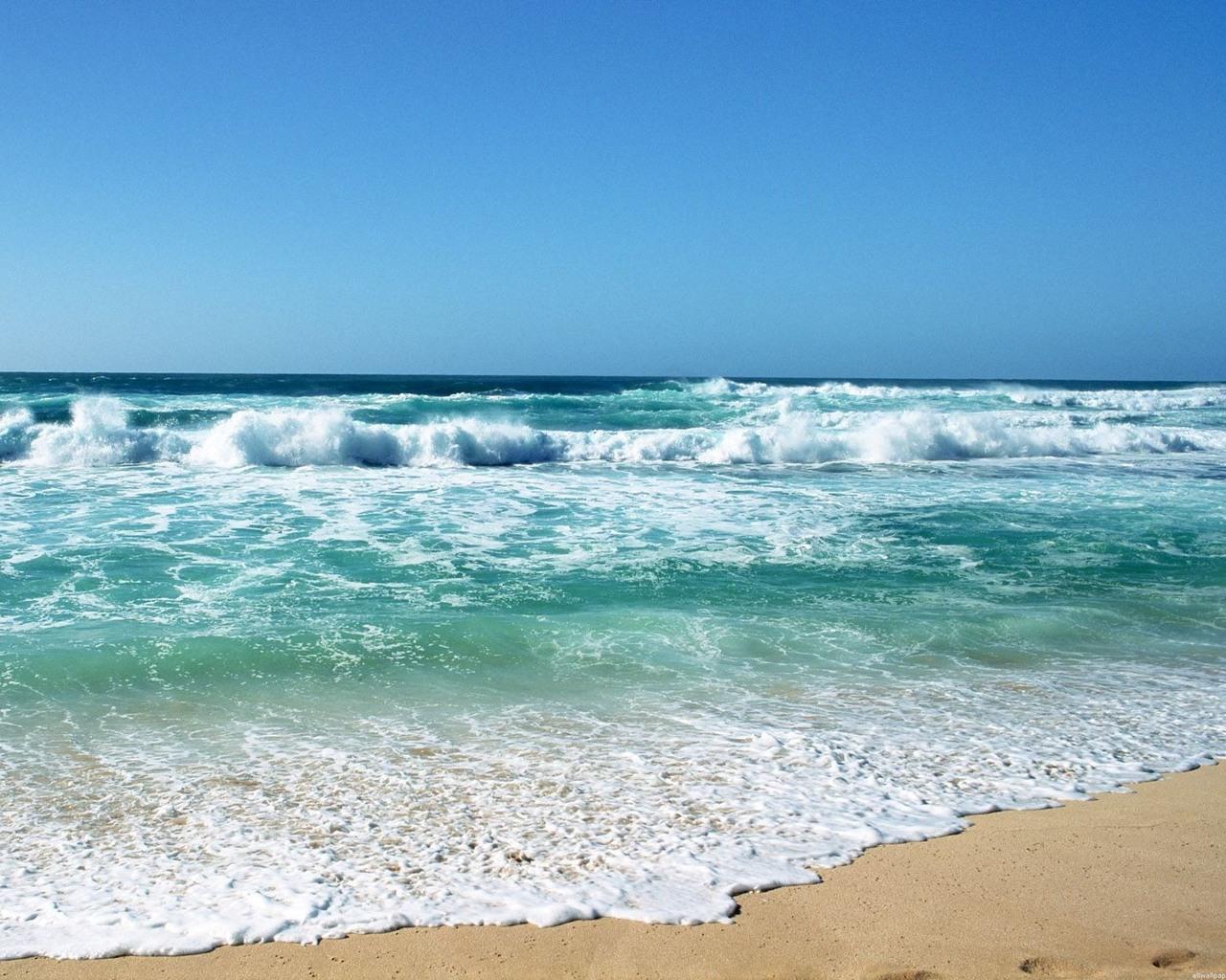 Морские волны обои для рабочего стола