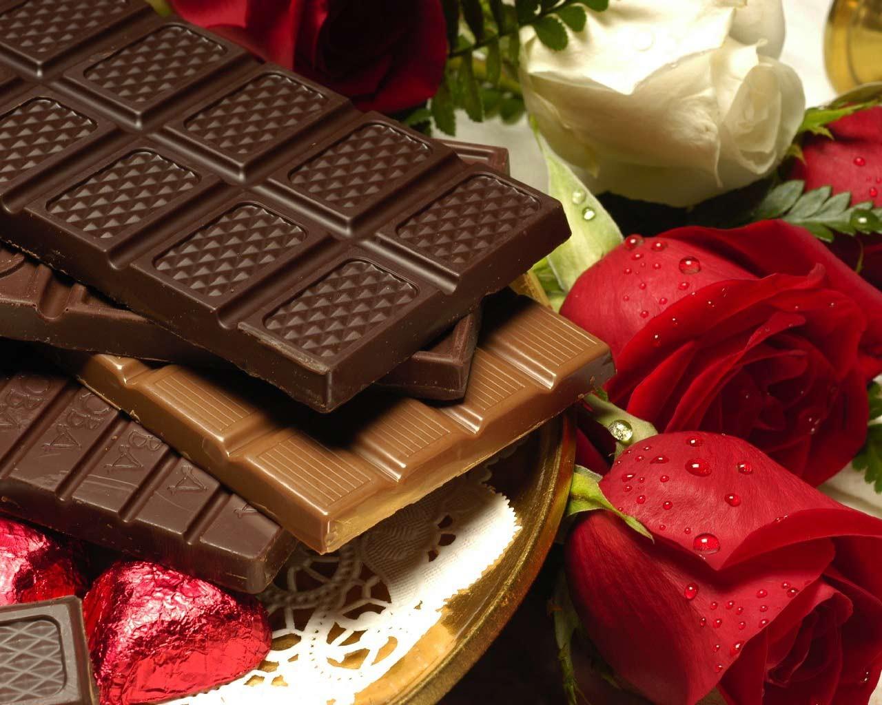 Шоколад и розы